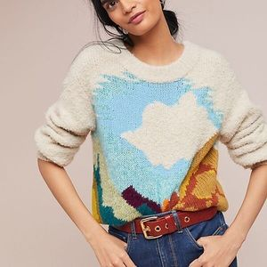 NEW Anthropologie Lovliest Landscape Sweater